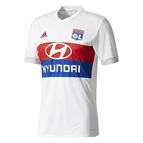 Chemise d'habitation adidas Olympique Lyon 2017/18, Blanc, M