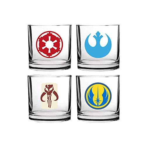 SD toys - Pack 4 Verres Star Wars - Assortiment Logo Classiques - 8435450202063