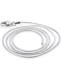 Silvity 925 Silberkette: Schlangenkette Silber 1,0mm breit - Länge frei wählbar 722104