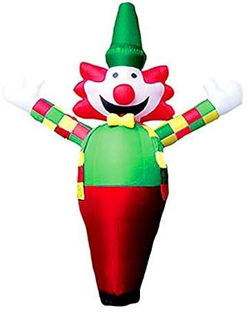 erdbeerparty - Riesenclown- Aufblasbare Dekoration Clown Kinderfest Karneval Fasching - Skydancer, 400cm hoch, (Hula Boy Kostüm)