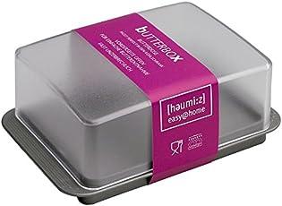 homeXpert 302316Butterdose Kunststoff 15x 10x 10cm, Kunststoff, mehrfarbig, 15x10x10 cm