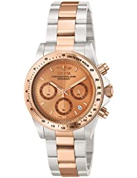 Invicta Speedway Men's Chronograph Quartz Watch with Stainless Steel Rose Gold Plated Bracelet – 6933