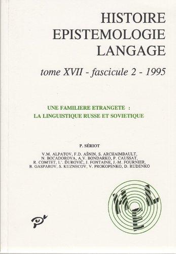 Histoire de l'épistémologie et du langage, tome 17-2, 1995