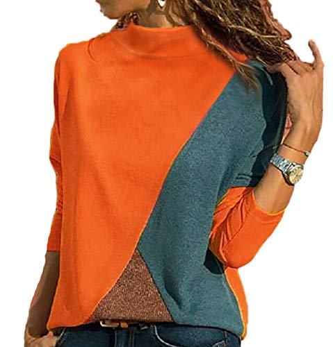 f53e42e8629ac Keephen Camiseta Casual Mujer Color Contrastante