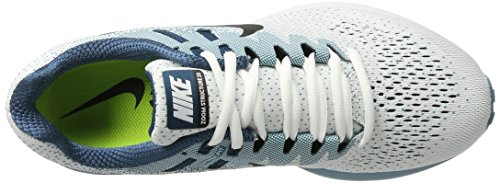 Nike Herren Air Zoom Structure 20 Laufschuhe Weiß (bianco / Nero-bluster-spazio Blu-ceruleo)