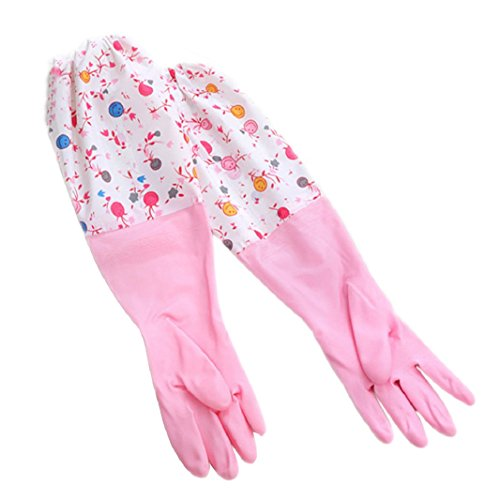 cheers-online-1-pair-household-thickened-flannel-cleaning-dish-waterproof-washing-up-gloves-pink-m