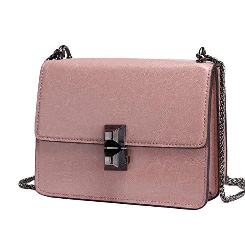 Bag Antifurto Ms. Sacchetto Di Cuoio Di Modo Avanguardia Pacchetto Tracolla Borsa Pink