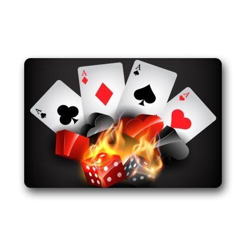 ferfgrg Popular Playing Cards Non-Slip Indoor or Outdoor Door Mat Doormat Home Decor Rectangle - 23.6
