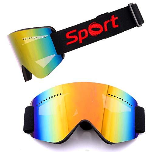 Yiph-Sunglass Sonnenbrillen Mode Antibeschlag- und Sandschutz-Skibrille - Überbrillen Ski- / Snowboardbrille Für Männer, Frauen und Jugendliche - 100% UV-Schutz (Farbe : Mehrfarbig)
