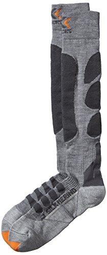 X-Socks Erwachsene Funktionssocken Ski Silk Merino Man, Grey/Anthracite, 35/38, X100026