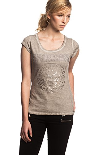 RAMONES - pedrería Seal - Camiseta Oficial Mujer - Gris, Large