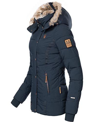 Marikoo Damen Winterjacke Steppjacke Nekoo Blau Gr. XL