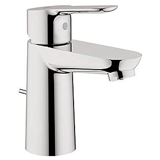 41KrhchtctL. SS324  - Grohe StartEdge - Grifo de baño con sistema de ahorro de agua, juego de vaciador automático y acabado cromado, mezclador de lavabo monomando para instalación en un solo agujero