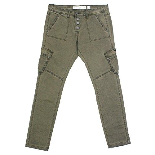 QS by S. Oliver, Megane, Damen Jeans Hose, Gabardine Stretch, Khaki Used, D 42 L 32 Inch 32 [19293]