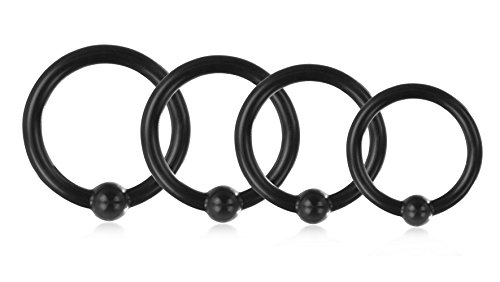 Deluxe-Set-of-Glans-Rings--25-mm-to-32-mm-Lumunu-Prachtquartett-4-Silicone-Penis-Rings-with-Stimulation-Ball