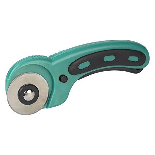 Wolfcraft 4152000 4152000-1 cúter Circular para Telas y Papel, Corte Recto y Curvado, con Cuchilla Recargable de 45 mm, multicolor, 45mm