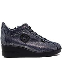 f2bbc365ce553 AGILE BY RUCOLINE Sneakers Donna 226 A Pasha Silver Navy Nuova Collezione  Autunno Inverno 2016 2017