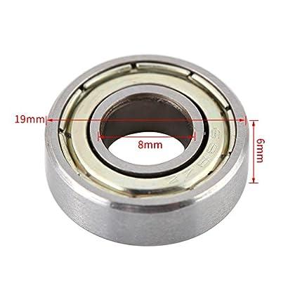10 stücke Mini Kugellager Hitzebeständige Langlebige Multi-Use-stahl Lager 698ZZ Kugellager 8x19x6mm