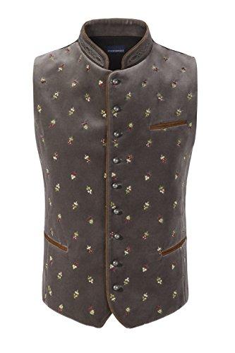 Stockerpoint - Herren Trachten Weste in verschiedenen Farbtönen, Calzado, Größe:52, Farbe:Stein