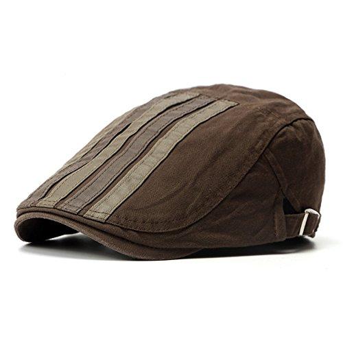 Einstellbar Schiebermütze Männer Hüte Frühling Sommer Duck Caps Streifen Flatcaps Outdoorhüte Kappe