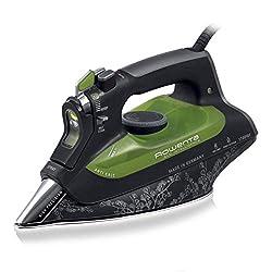 Rowenta Eco Intelligence DW6010 Dampfbügeleisen (2.400 Watt, Energiesparend, Dampfleistung 40 g/Min., extra Dampfstoß 180 g/Min., 0,3 Liter) schwarz/grün