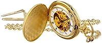 Charles-Hubert, Paris Gold-Plated Satin Finish Mechanical Pocket Watch