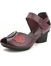 Girls L@YC® Women'S Flat Sandals Fish Mouth Leather Rough With The Platform Pump Satin Wedding Ball Shoes , purple , 40