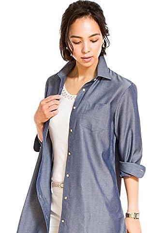 LEONIS Women's Tencel & Poly Cotton Dungaree Long-Sleeve Tunic (L)