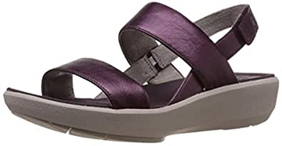 Clarks Women's Wave Shine Purple Leather Flip-Flops and House Slippers - 9 UK