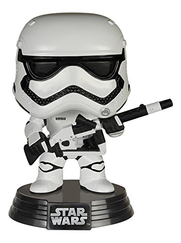 FunKo FK6232 - Pop Star Wars Episode VII The Force Awakens, First Order Stormtrooper with Blaster, Vinyl Exclusive Limited Figur, 10 ()