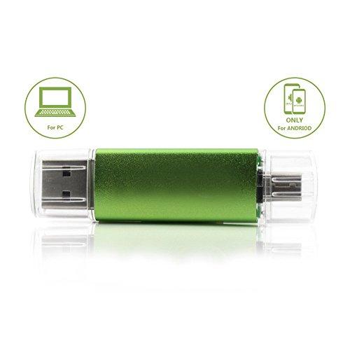 EASTBULL 32GB Micro an USB Stick OTG 2.0 Speicher Für Android und PC, Grün