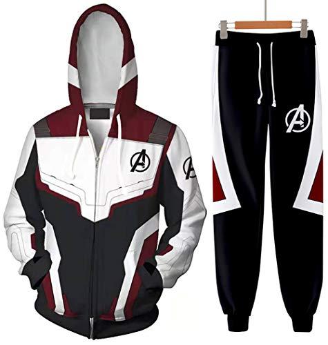 KamiraCoco Hombre Sudadera Pantalones 3D Impreso Avengers