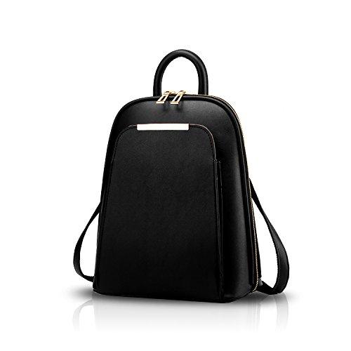 Tisdain Le signore di cuoio dell'unità di elaborazione dell'unità di elaborazione del sacchetto di spalla casuale di modo femminile dell'unità di elaborazione adattano il raccoglitore mini nero