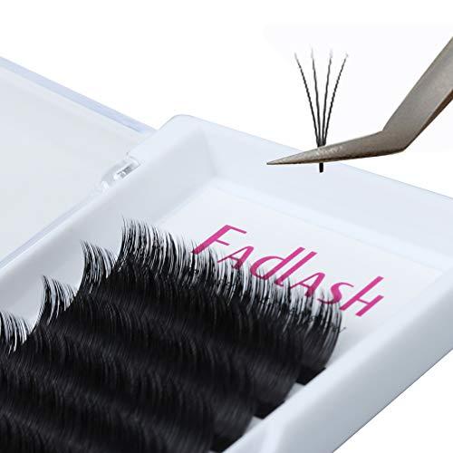 EINWEG Automatic Blooming Volume Eyelash D Curl 0.05 Dicke mix Rapid Blooming Wimpernverlängerung 2D 4D 8D 10D 20D Professional Flare Lashes Knotenfrei (D Curl, 0.05mm mix)