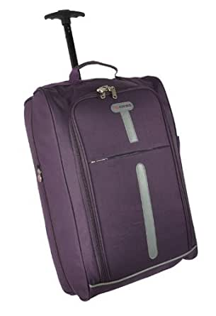 "cabin size, 21""hand luggage ,light weight ,wheel bag aerolite. (plum)"