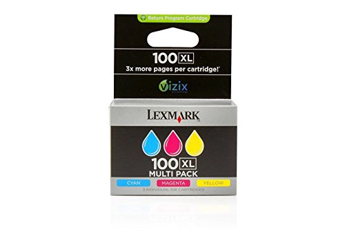 Lot économique de cartouches d'encre d'origine pour lexmark 100/308/lexmark 0014N0850E-lot économique set de cartouches d'encre cyan, magenta, jaune pour 3 x 600 pages-lot de 3