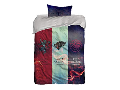 Cool Bedding Game of Thrones Bettdeckenbezug Single Set 2-teilig, Bettdeckenbezug 140x200cm 1 St. Kopfkissenbezug 40x80cm 1 St.