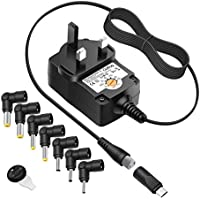 Outtag AC Power Supply Adapter Wall Main Charger 3V 4.5V 5V 6V 7.5V 9V 12V 1A for Bluetooth BT Speakers Routers CCTV Cameras LCD TV Box USB HUB IP Camera Led Lamps Smart Phones Switching Power Supply