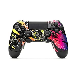 AimControllers PS4 Custom Wireless Controller, PlayStation 4 Personalized Gamepad with 4 Paddles