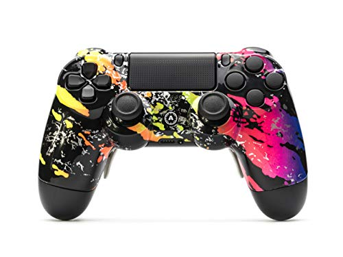 AimControllers PS4 Custom Wireless Controller, PlayStation 4 Personalized Gamepad with 4 Paddles, Camo Color [video game]