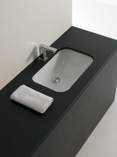 Lavabo Lave-mains sous-plan design Nettuno 55 en céramique blanche 55x37,5x20 cm