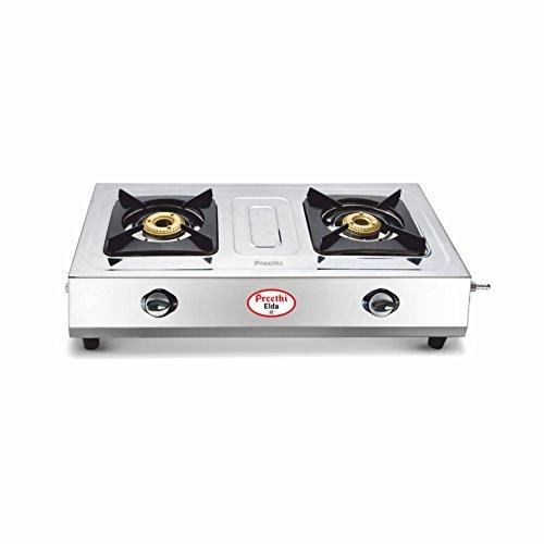 Preethi Elda Stainless Steel 2-Burner Gas Stove
