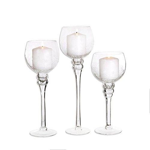 Set di 3vetro candela bastoni portacandele