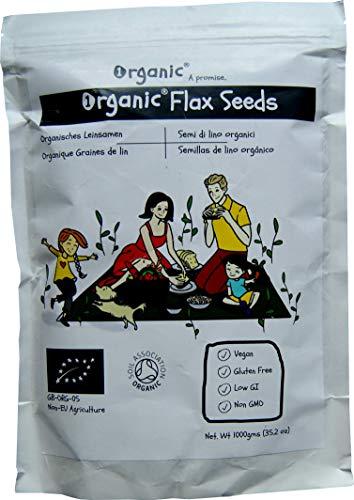 Leinsamen/Flax Seeds/Flaxseed/Linseed, Braun, 100{5f641714e90cd2470eda28bce68731a30c8a487539f3d13dad1be9e7c00845c5} ORGANISCH/BIO Zertifiziert, Rein, Natürlich, 1kg