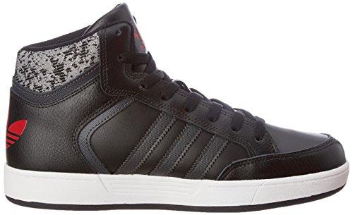 adidas Varial Mid, Scarpe Running Bambino Nero (Core Black/dgh Solid Grey/scarlet)