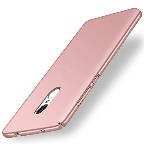 NAVT Xiaomi Redmi 5 Plus Funda,Ultrafino Estructura completamente rodeada la estructura de superficie mate Durable PC Protector teléfono funda para Xiaomi Redmi 5 Plus Smartphone (oro rosa)