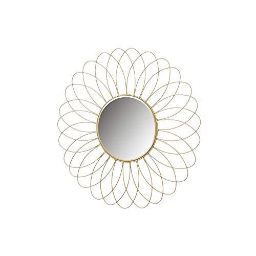 Espejo Flor Dorado de Metal Minimalista para decoración de 49 cm France - LOLAhome