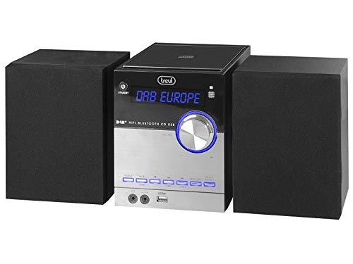 Trevi HCX 10D8 DAB Stereo Hi-Fi con Ricevitore Digitale DAB/DAB+ e FM con RDS, Display Alfanumerico LCD, Bluetooth, CD, Mp3, USB, AUX-IN, Funzione Auto-Memory, Funzione Orologio
