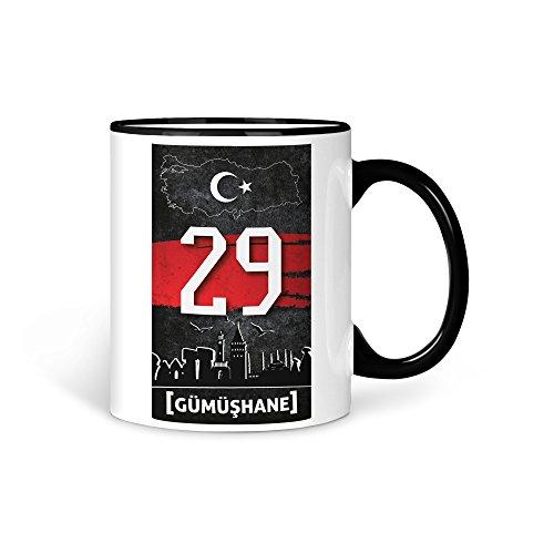 TASSE Kaffeetasse Türkei Gümüshane 29 Türkiye Plaka V2