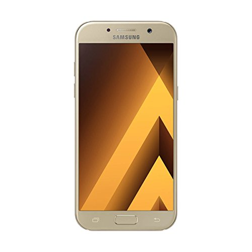 Samsung Galaxy A5 (2017) - Smartphone Libre DE 5,2' (Android 6.0, Pantalla Super AMOLED táctil capacitiva, cámara Trasera 16 MP y Frontal 16 MP, 32 GB) [Versión española] Dorado